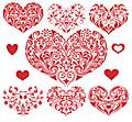 Heartssetpatternshapeheart62100969